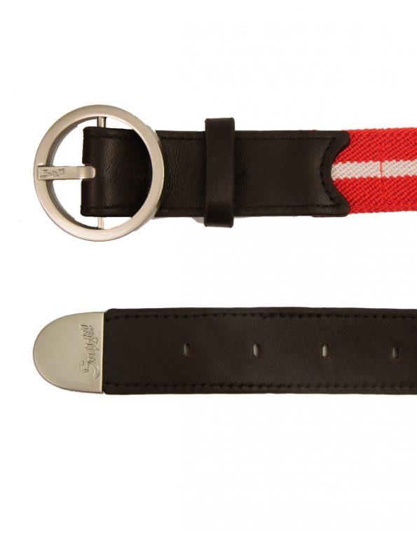 Suixtil Men's Avus Leather & Elasticated Cotton Belts, Swiss