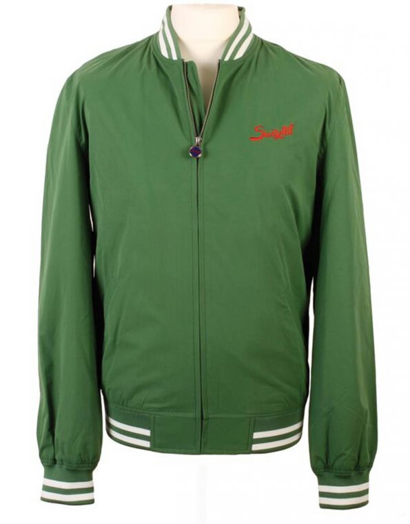 Suixtil Men's Barcelona Summer Racer Bomber Jacket, Bottle Green