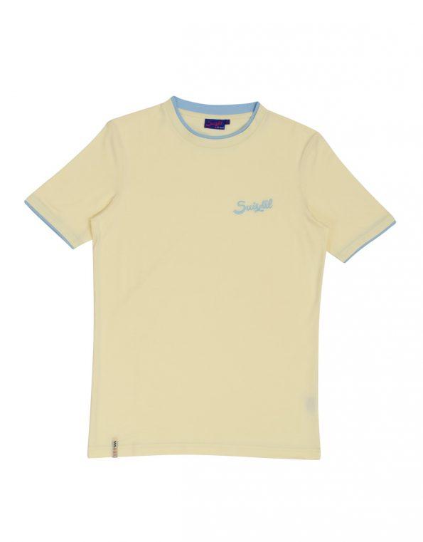 Suixtil Men's 100% Pima Cotton Cuba T-Shirt, Pale Yellow