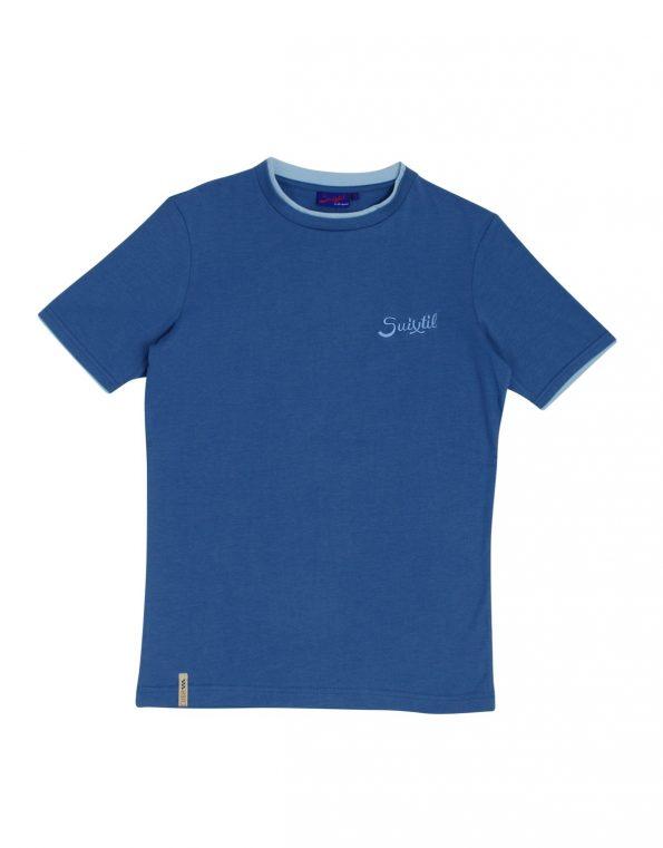 Suixtil Men's 100% Pima Cotton Cuba T-Shirt, Storm Blue