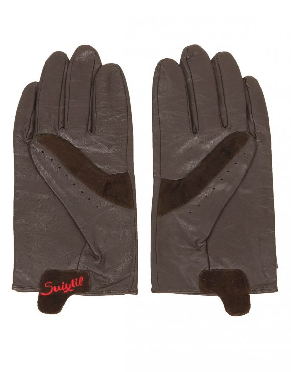 Suixtil Men's Endurance 100% lamb leather Driving Gloves, Dark Chocolate Brown