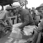 Jean Behra - Maserati - British and European GP July 1957 (c)The John Ross Motorsport Archive