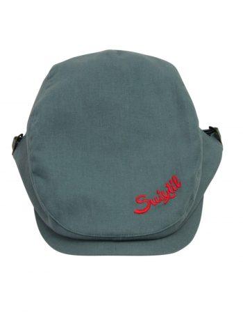 Linen cotton race cap – emerald green (3)