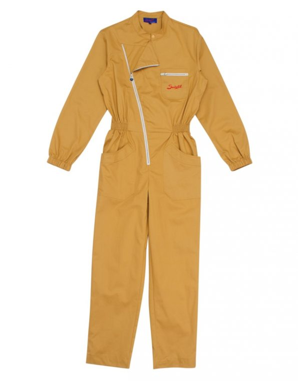 Suixtil 100% heavy cotton twill toasted-almonds Mechanic Overalls