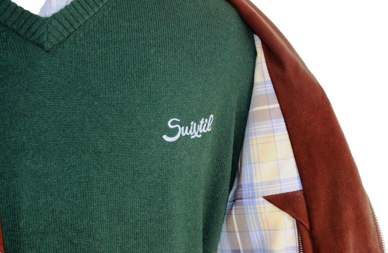 separation shoes 8b78a 9bac2 Suixtil Men's 100% Cashmere Monza Sweater, Dark Green