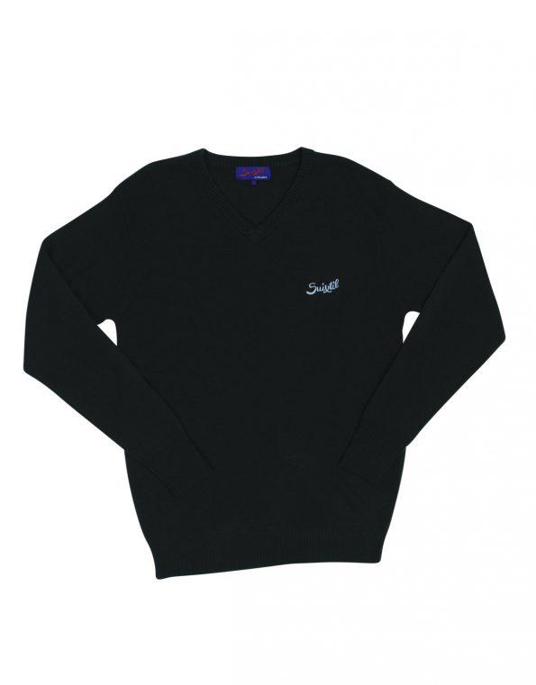Suixtil Men's 100% Cashmere Monza Sweater, Dark Green