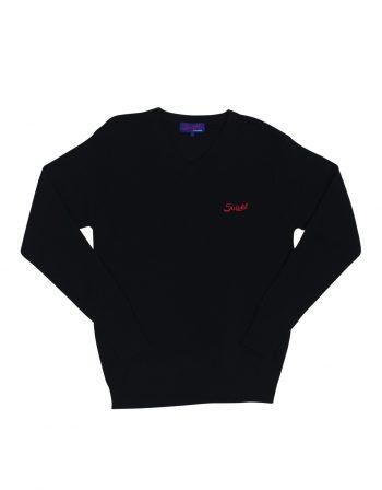 Monza sweater – 100% cashmere – Navy blue (2) (WEB)