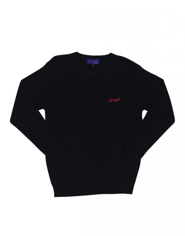 Suixtil Men's 100% Cashmere Monza Sweater, Navy Blue