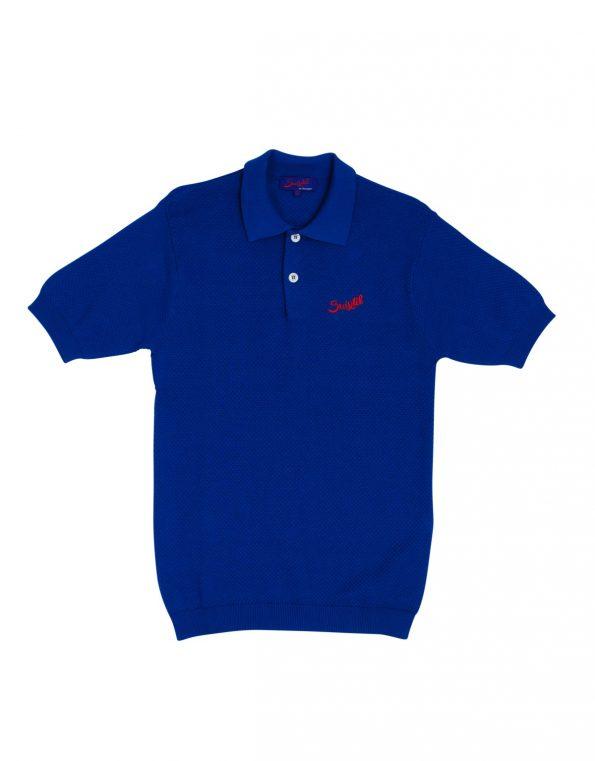 Suixtil Men's 100% Pima Cotton Nassau Short Sleeve Polo, Flash Blue