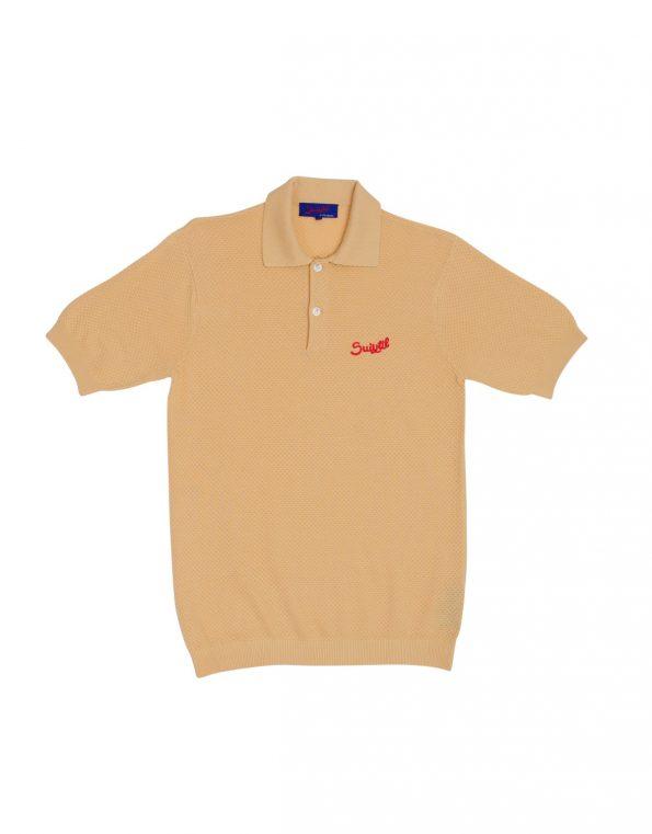 Suixtil 100% Pima cotton Nassau short sleeve polo, Gold