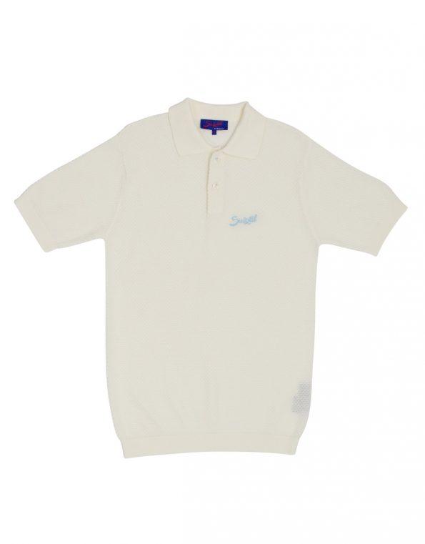 Suixtil Men's 100% Pima Cotton Nassau Short Sleeve Polo, Pure White
