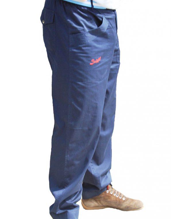 Suixtil Men's 100% Fine Cotton Twill Modena Race Pant, Us Blue
