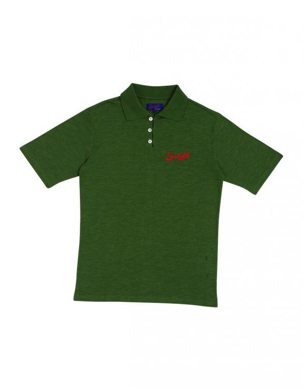 Suixtil 100% slub yarn cotton RIO short sleeve Polo,  Banking green