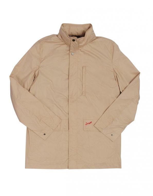 Suixtil Men's Zandvoort Rain Jacket, Mastic Beige