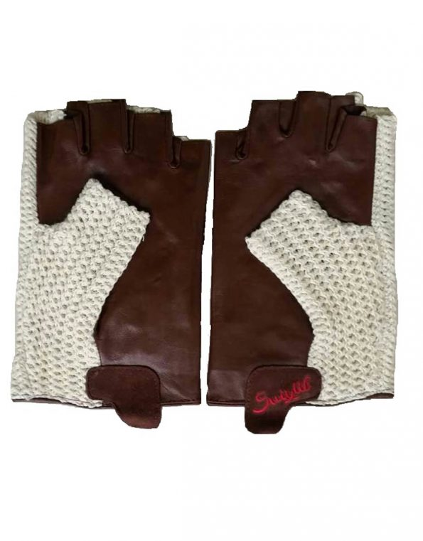 Suixtil Regularity lamb leather & cotton stringback Driving Gloves, Caramel