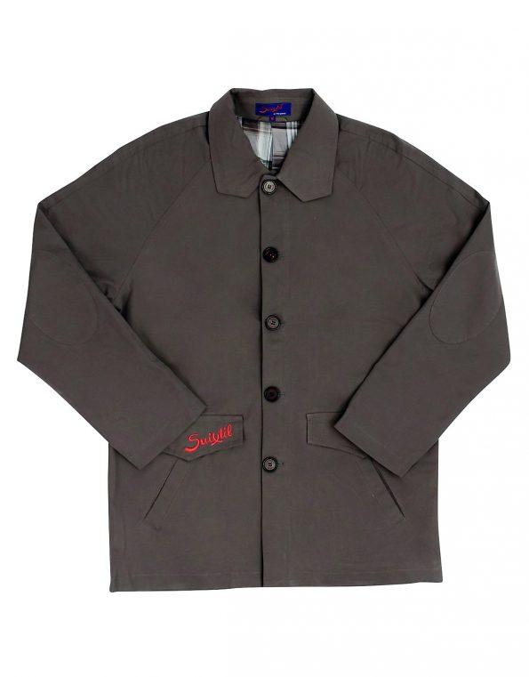 Suixtil Men's Silverstone Weatherproof Jacket, Smoke Grey