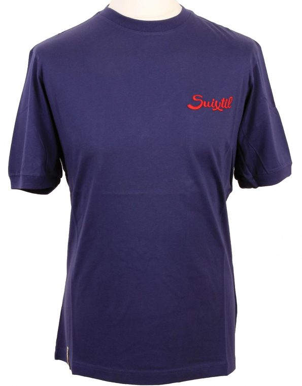 Suixtil Men's 100% Pima Cotton Cuba T-Shirt, Twilight Blue