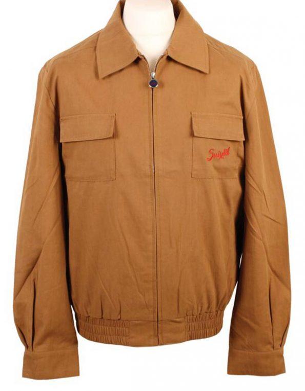Suixtil Men's Monaco Bomber Jacket, Cigar Brown