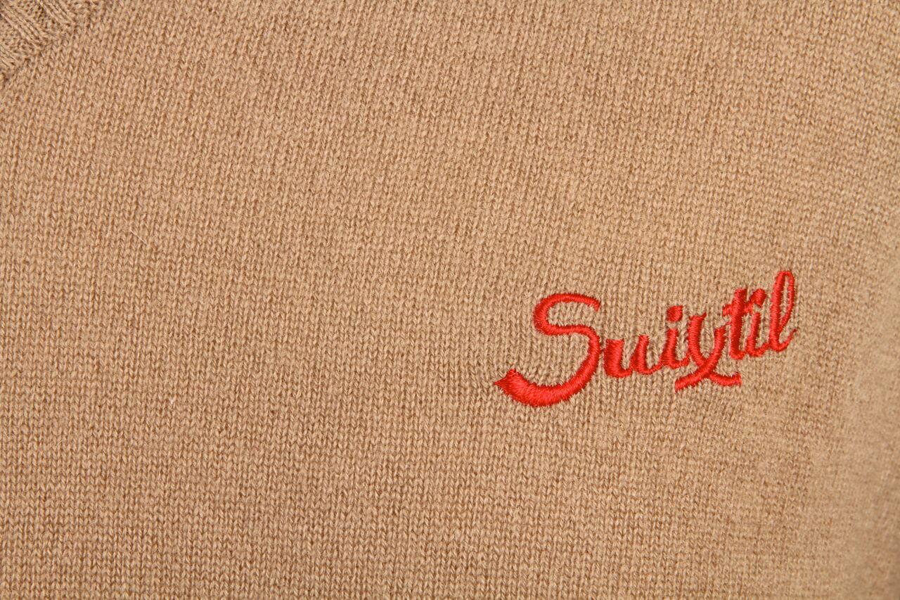 innovative design 25110 8e21a Suixtil Men's 100% Cashmere Monza Sweater, Desert Beige