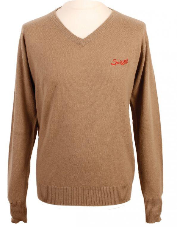 Suixtil Men's 100% Cashmere Monza Sweater, Desert Beige