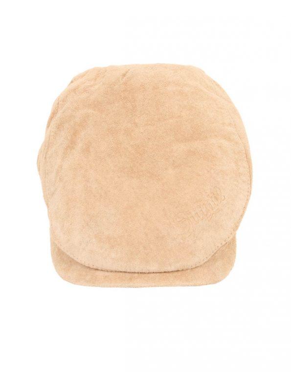 Suixtil Men's 100% Suede Flat Cap, Beige