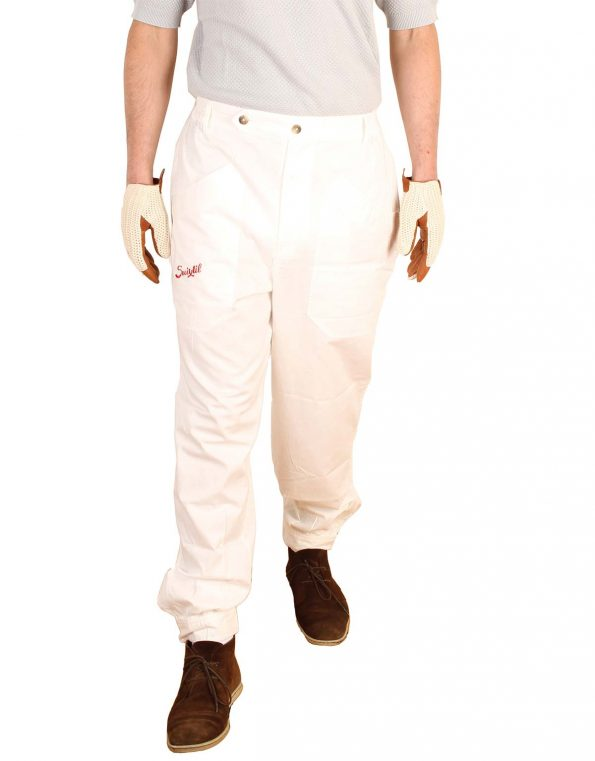 Suixtil Men's 100% Fine Cotton Twill Original Race Pant, German White