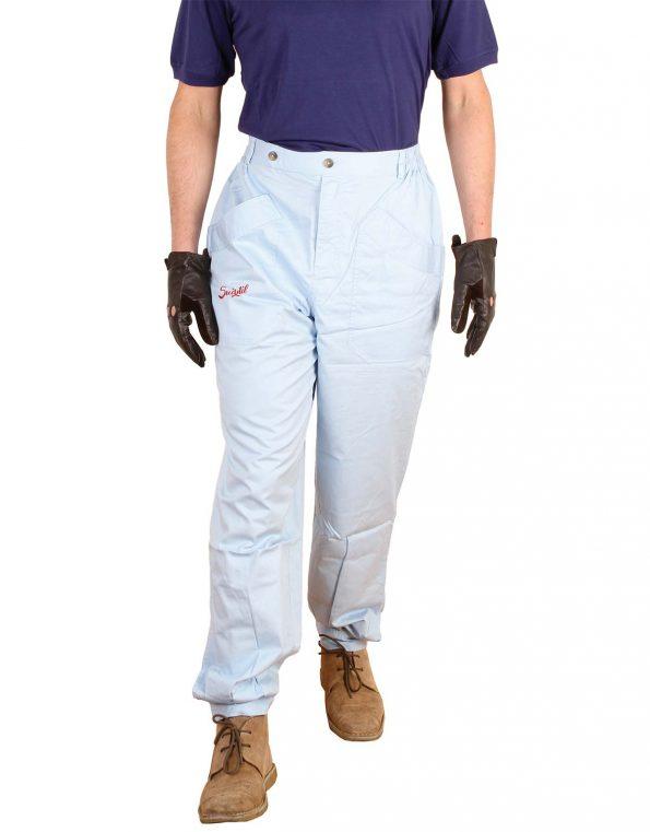 Suixtil Men's 100% Fine Cotton Twill Original Race Pant, Argentine Blue