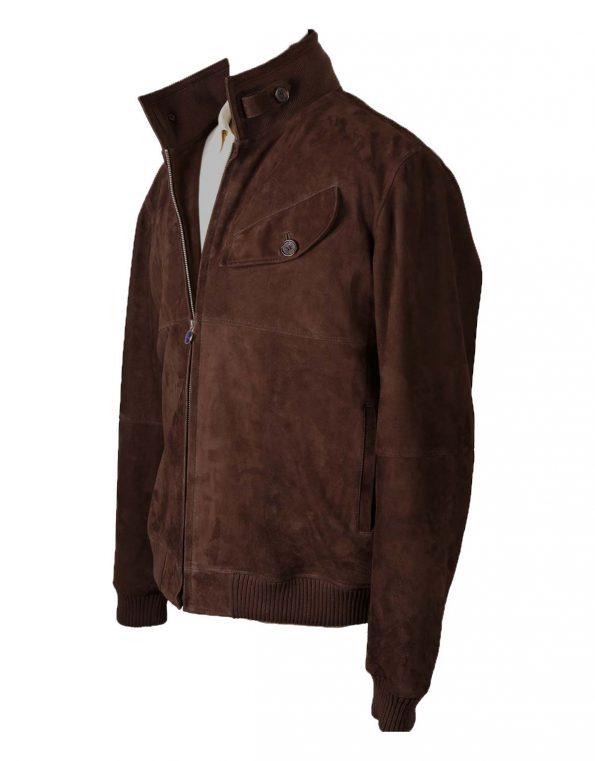 Suixtil Men's Sebring Suede Bomber Jacket