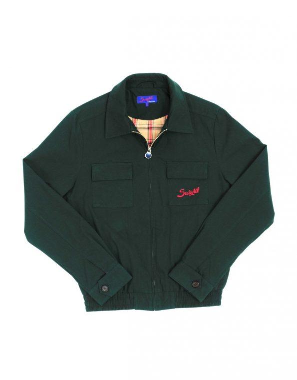 Suixtil Men's Monaco Bomber Jacket, British Racing Green