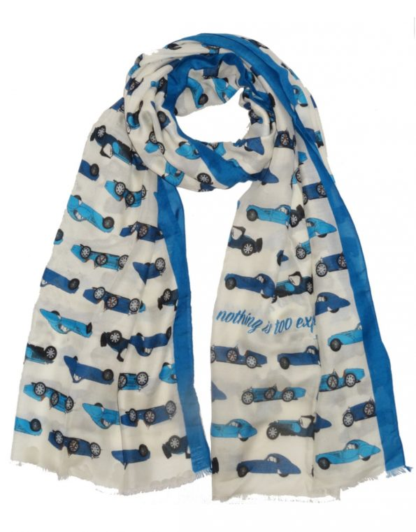 Super-soft car themed scarves for any occasions – the Bugatti version