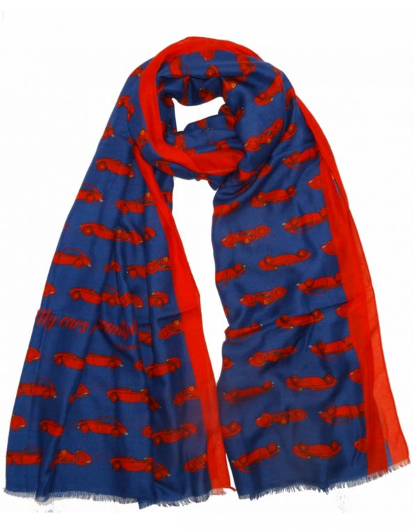 Super-soft car themed scarves for any occasions – the Ferrari version
