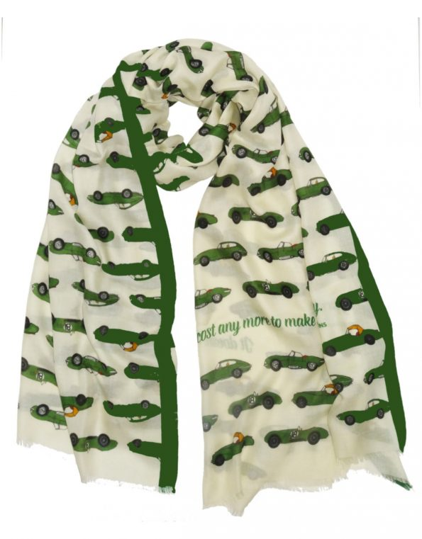 Super-soft car themed scarves for any occasions – the Jaguar version