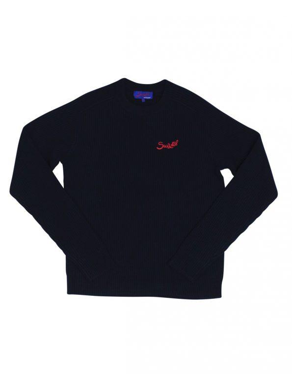 Suixtil Raticosa wool and cashmere sweater – Deep sea blue