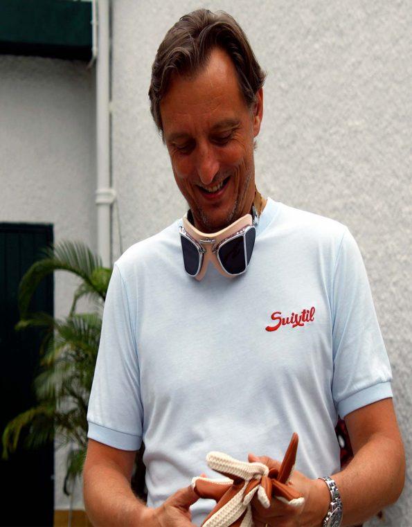 Suixtil Men's 100% Pima Cotton Cuba T-Shirt, Argentine blue