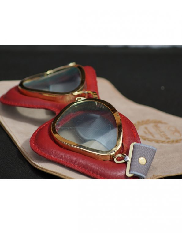 The Belle Vue goggles – Italian Red