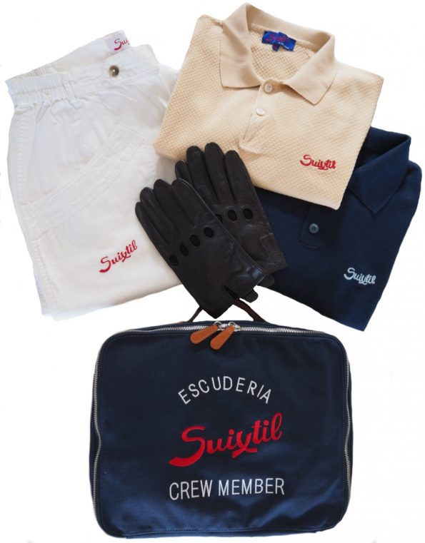 The Racing Kit (sweater, pants, polo, gloves & touring bag of your choice)