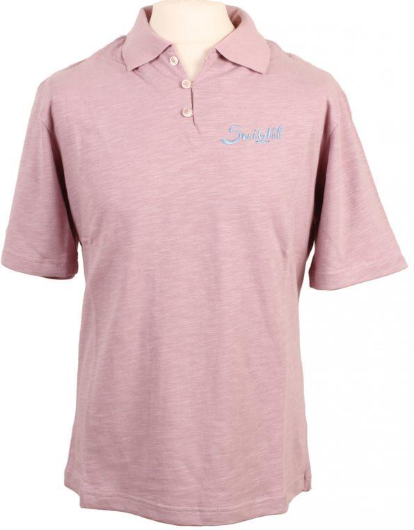Suixtil Men's 100% Slub Yarn Cotton Rio Short Sleeve Polo, Light purple